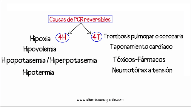 parada cardiorrespiratoria, causas reversibles