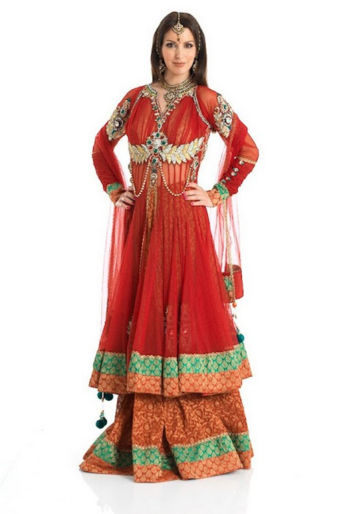 Double Shirt Anarkali Dresses