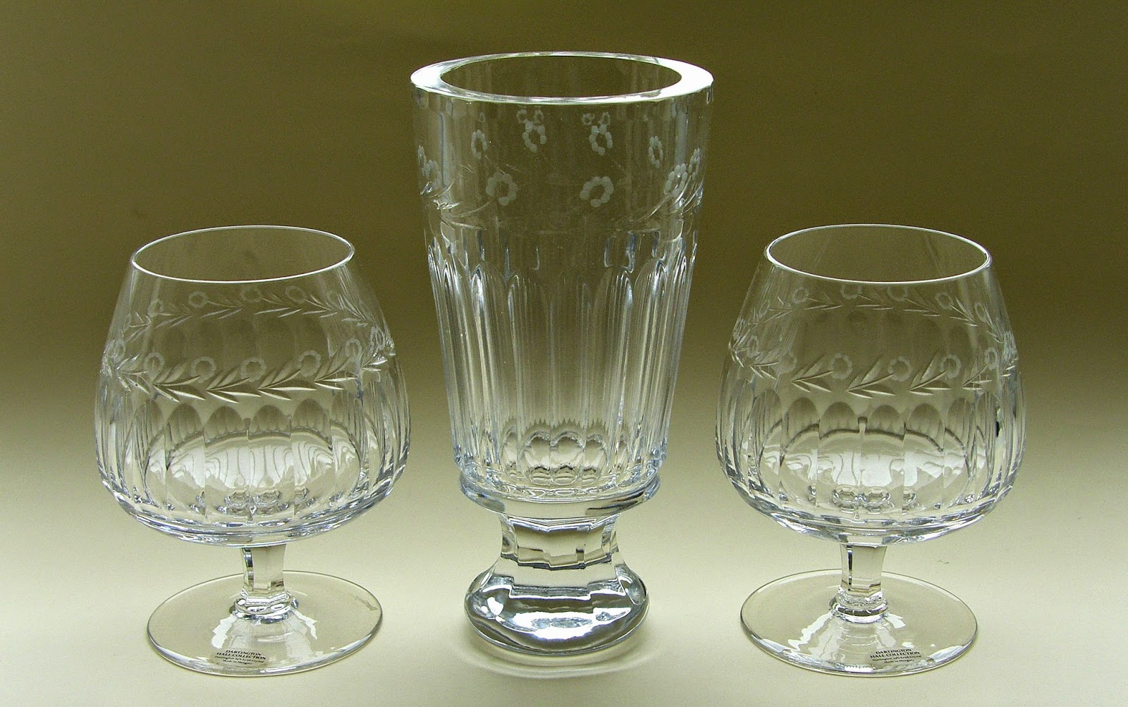 Frank thrower glass designs shelley design dh78 vasebowl dh1355 brandy balloons in clear cut crystal reviewsmspy