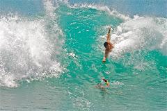 Kewalo's body surfing