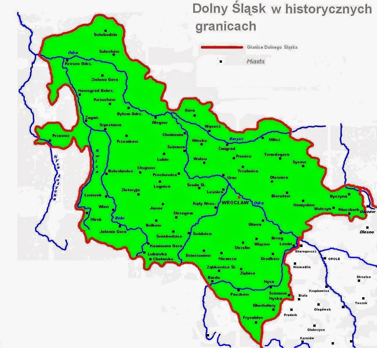 Historyczne granice Dolnego Śląska