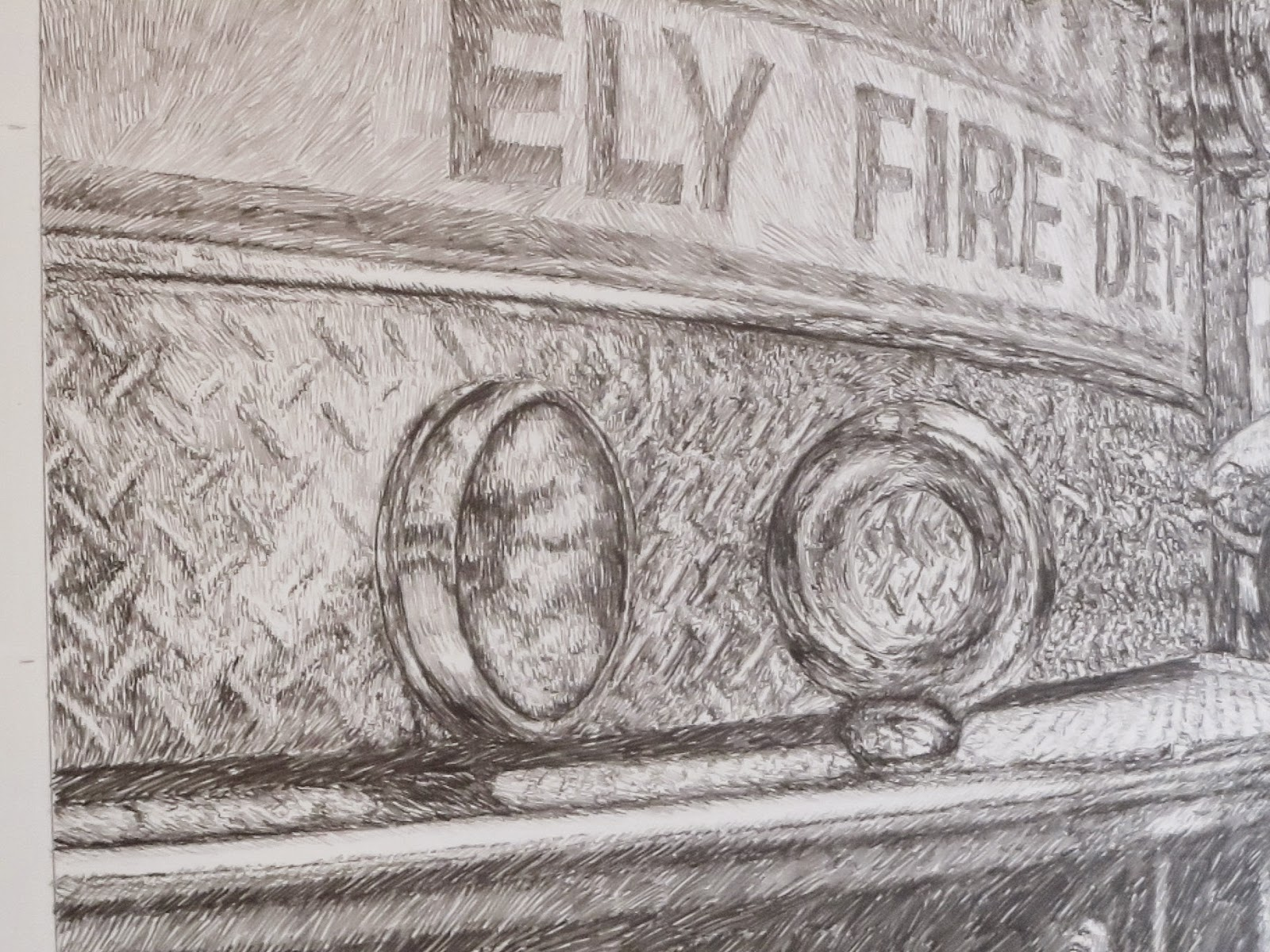 Pencil, drawing, graphite, john, huisman, art, work, detail, minnesota, artist