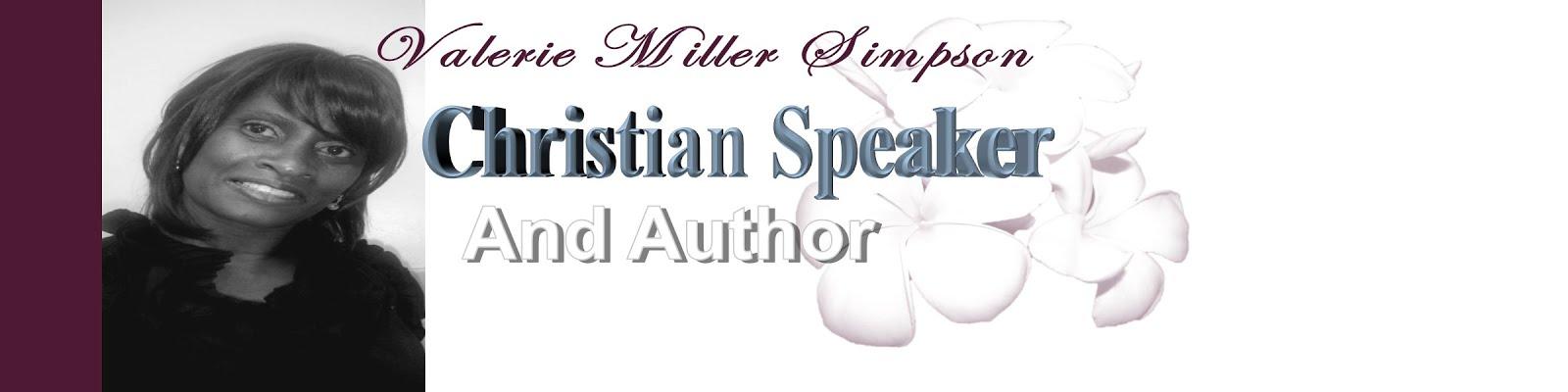 Christian Speaker Valerie Miller Simpson