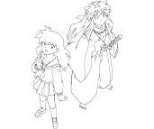 #8 Inuyasha Coloring Page