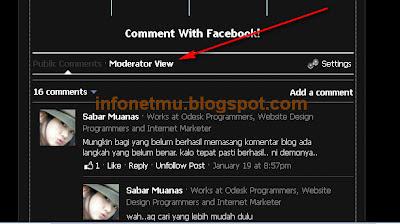 Cara tepat membuat komentar facebook di blog