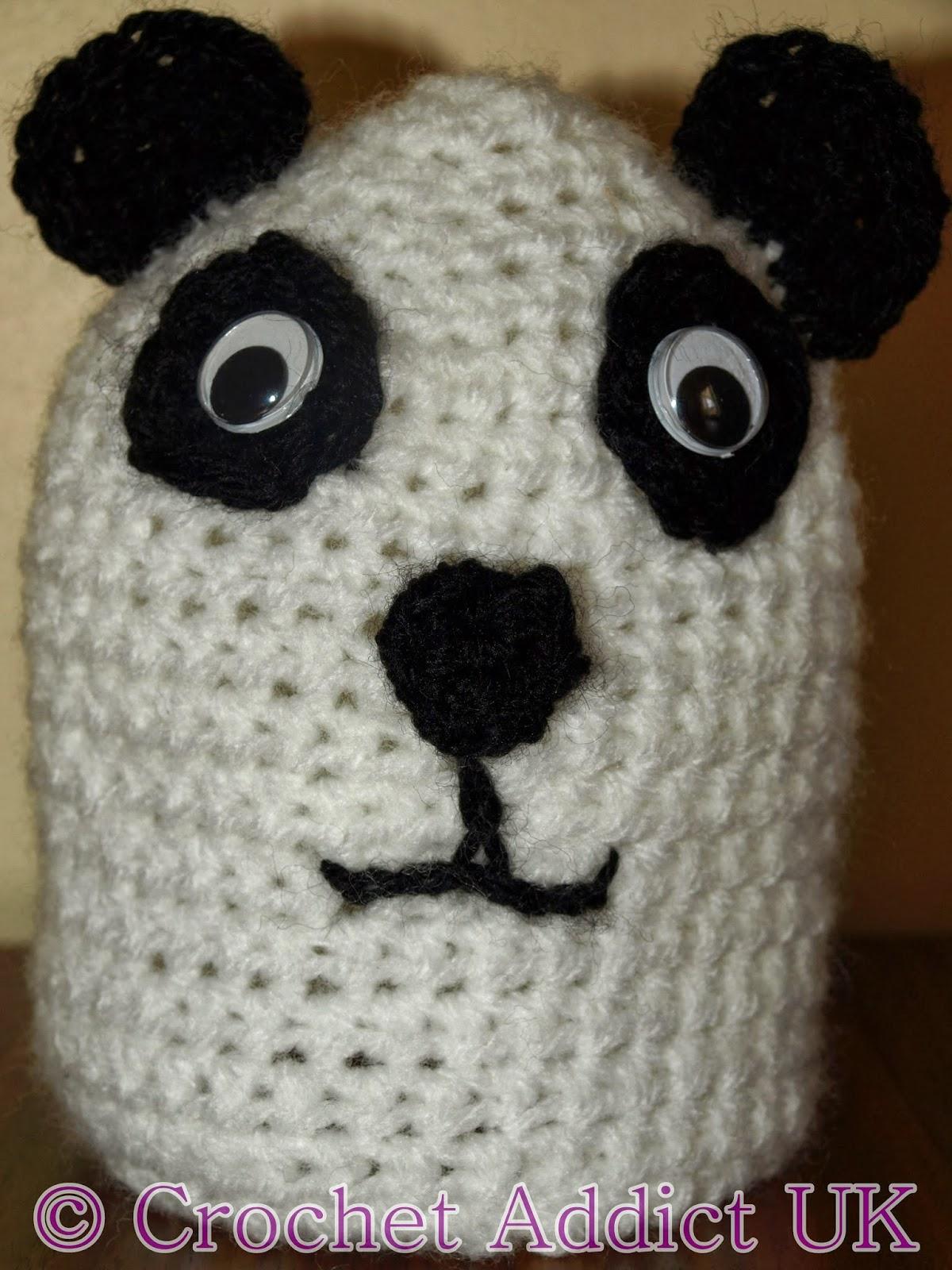 Free Crochet Baby Panda Hat Pattern : #Panda #Baby #Beanie #Hat ~ #Free #Crochet Pattern ...