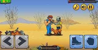 Screenshots of the Chuck vs zombies for Android tablet, phone.