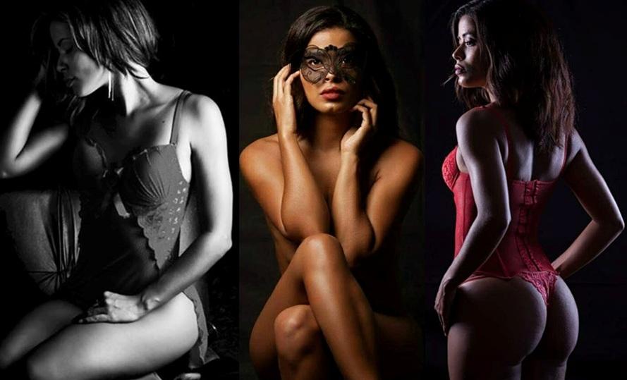 A modelo carioca Keyla Lima mostra boa forma diante de fotos arrasadoras