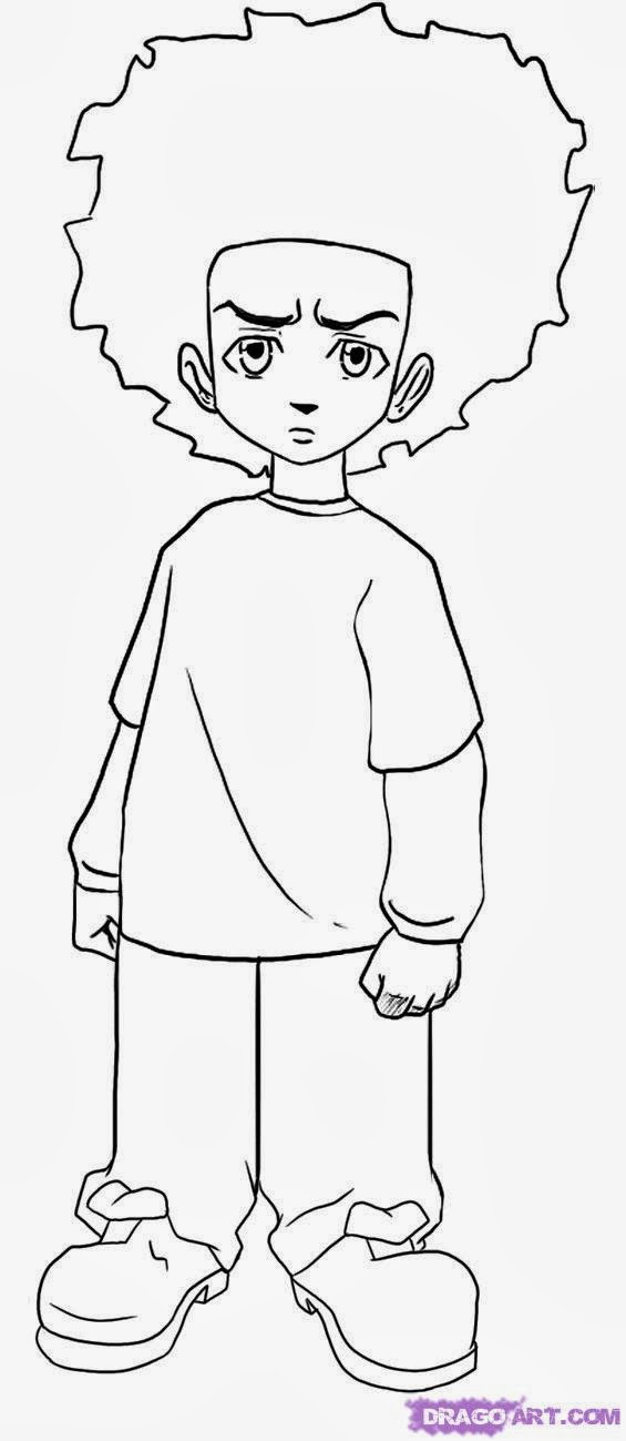 boondocks coloring pages coloring page for kids