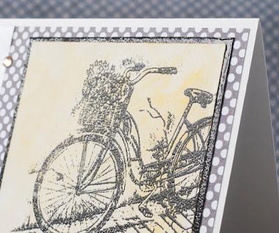 велосипед, эмбоссинг, пура, фен, чисто и просто, стили скрапбукинга