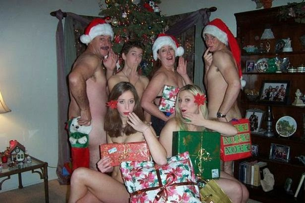 Nude girls in christmas cards