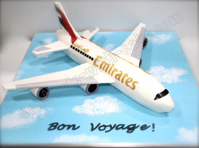Cake Design Uae : Celebrate with Cake!: Sculpted Emirates Airplane Cake