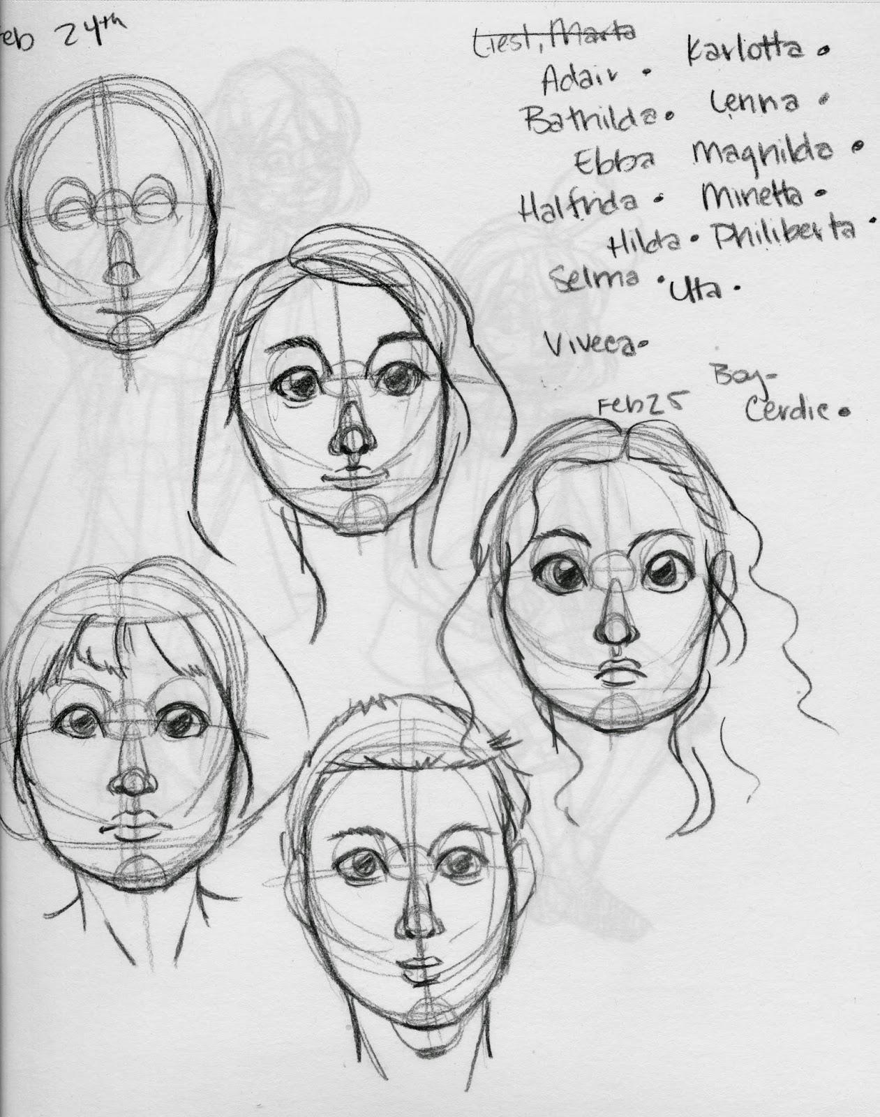 facial studies, Becca Hillburn, face construction