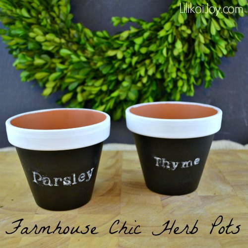 Craft Project: Three Looks with Clay Pots - Farmhouse Chic Herb Pots