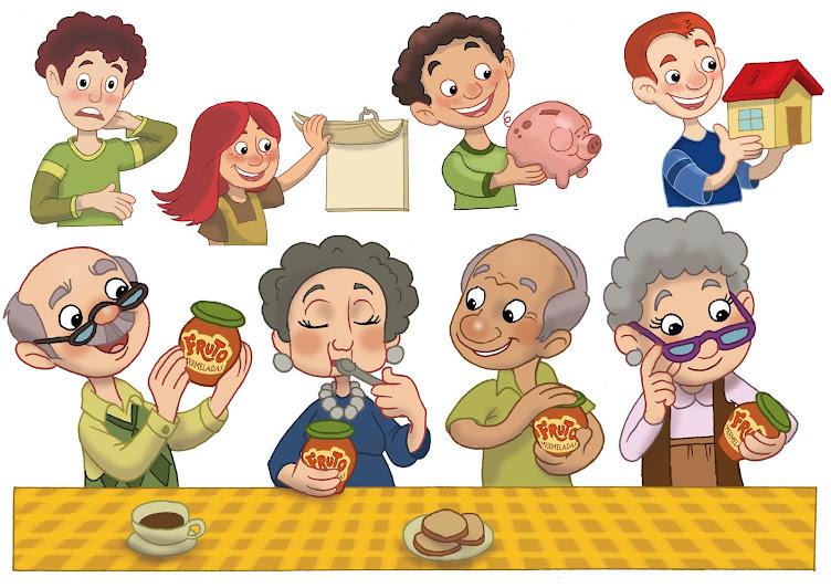 Personajes viñetas