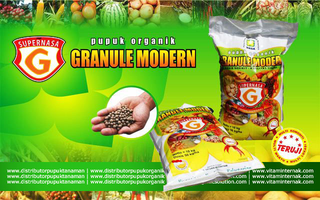 Pupuk Organik Granule Modern Supernasa G+ Hanya 50Kg Per Hektar