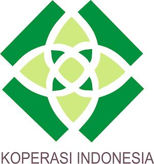 Logo SekuntumBunga Teratai bertuliskan KOPERASI INDONESIA