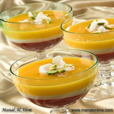 Colored Pudding Recipe