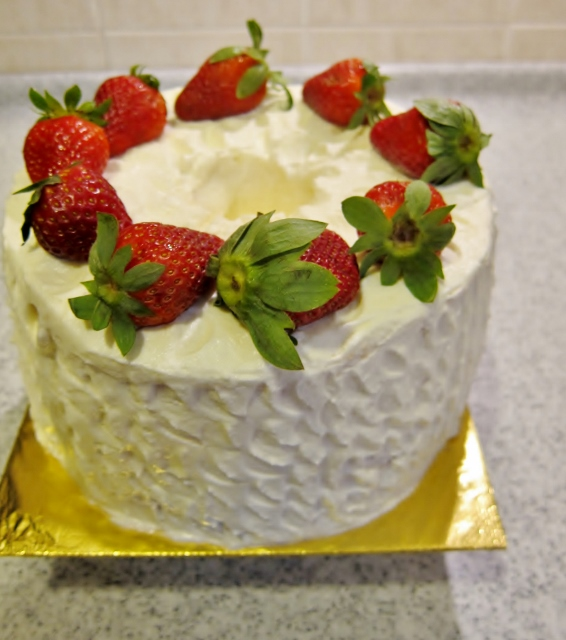 Strawberries and Cream Chiffon Cake from Nomsies Kitchen