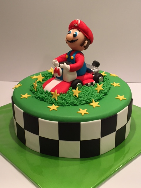 Mario Bros Kart Cake
