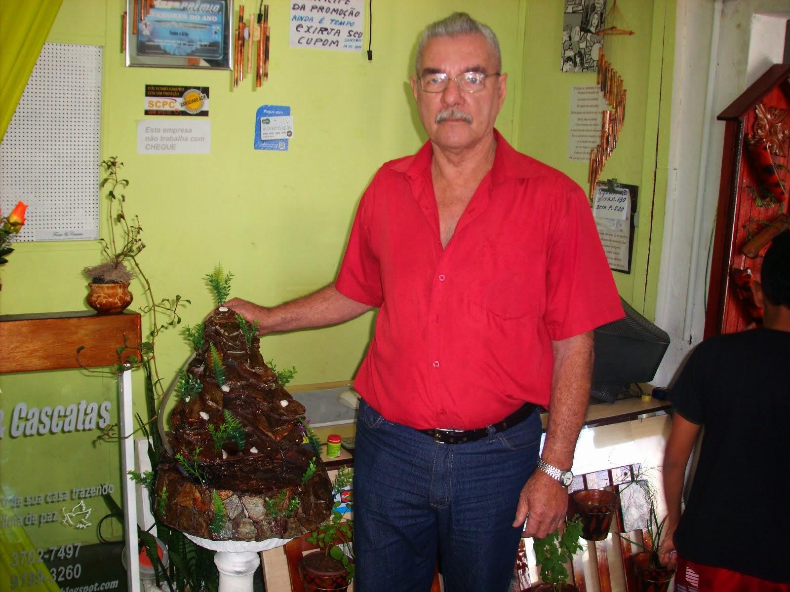 Ganhador do sorteio de uma cascata realizado no dia 16 / 08 / 2014