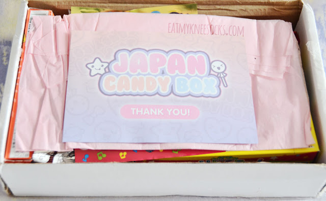 Inside the adorable Japan Candy Box was a cute flyer with all the information on the treats inside.