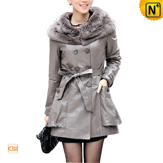 Gray Sheepskin Coat