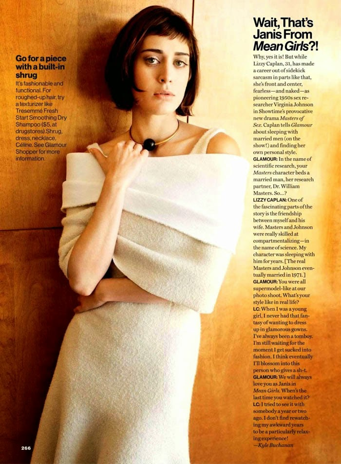 Lizzy Caplan For Glamour Us October 2013