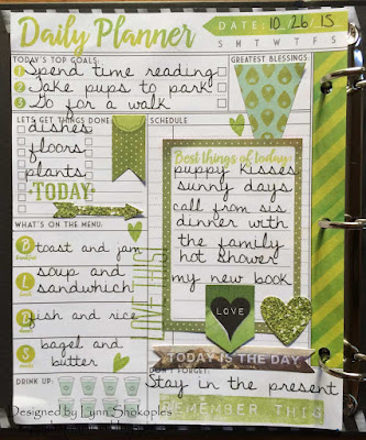 October Dailies by Lynn Shokoples for BoBunny featuring the Calendar Girl Collection