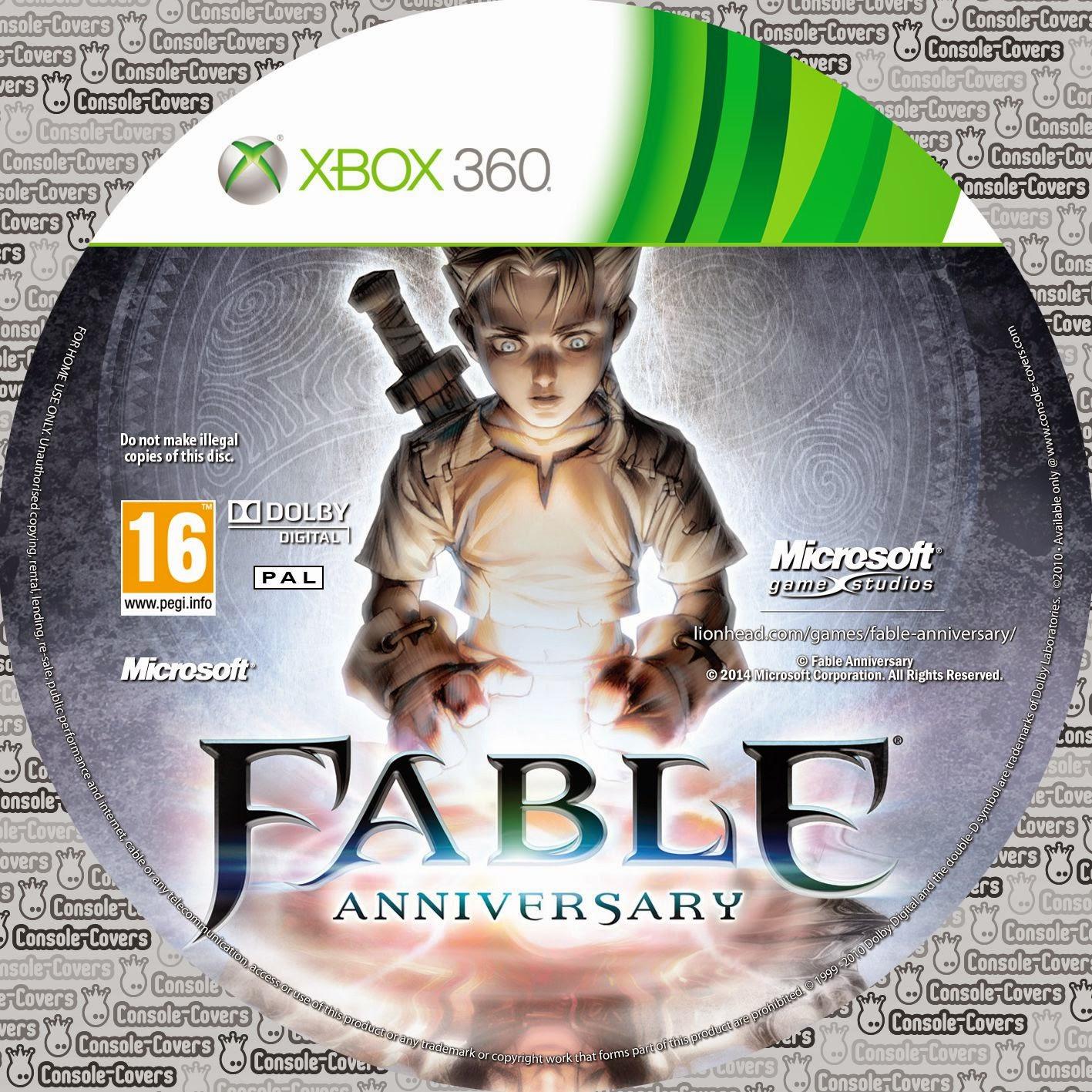 Label Fable Anniversary Xbox 360
