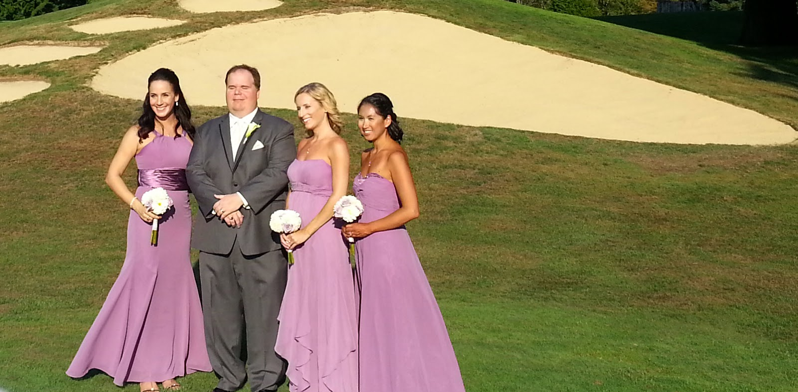 The Bear Creek Country Club signature sand traps - Patricia Stimac, Seattle Wedding Officiant
