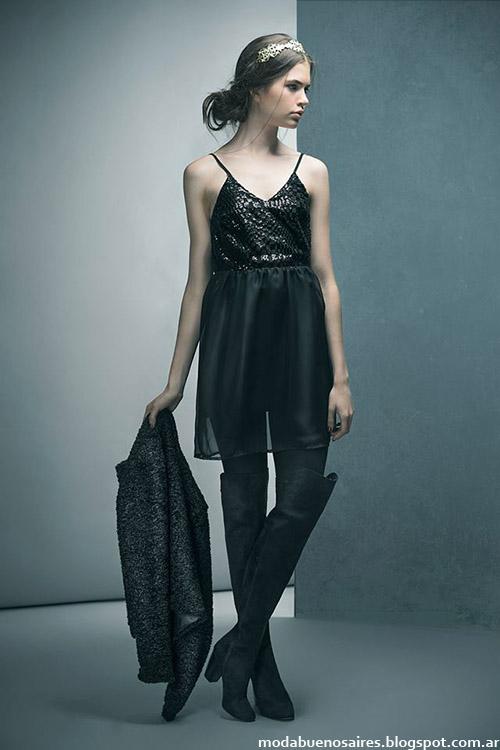 Moda otoño invierno 2015 Doll Store vestidos juveniles.