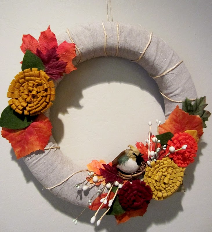 Blissfully Blessed Fall Wreath And Felt Flower Tutorial