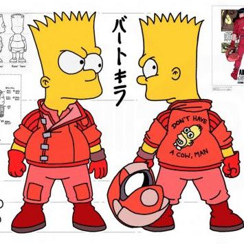 """Como seria a mistura dos """"Simpsons"""" com o mangá japonês """"Akira"""""""