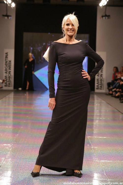 Adriana Costantini otoño invierno 2014 vestidos largos de moda invierno 2014.