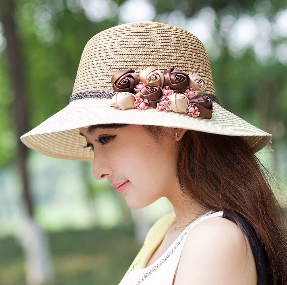 Girls stylish photos with hats photo