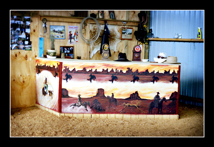 fat fergus designs western bar mural. Black Bedroom Furniture Sets. Home Design Ideas