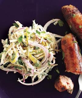 Italian Sausage & Celery Root Slaw