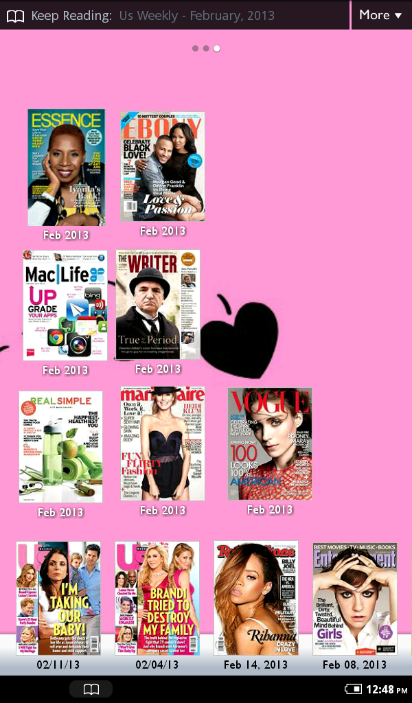 Literary marie february 2013 i am living la vida nook with these february emags fandeluxe Choice Image