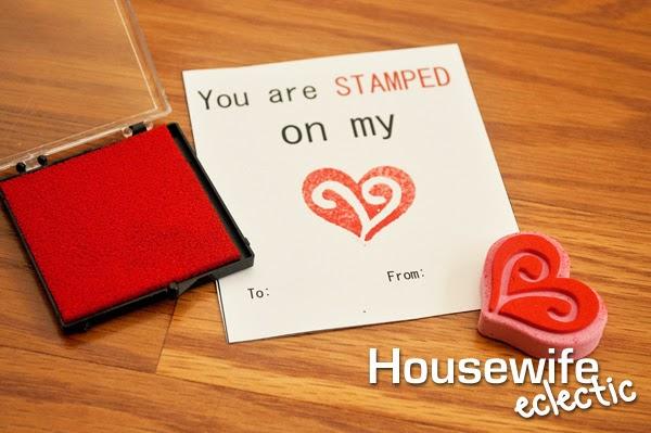 Valentines, Stamped Valentines