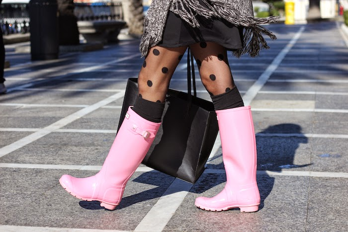 hunter_rosa_pink_boots_agua_looks_outfit_día_lluvia_angicupcakes01