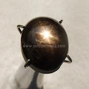 Batu Permata Black Sapphire Star - SP977