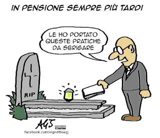 pensioni, lavoro, inps, vignetta satira