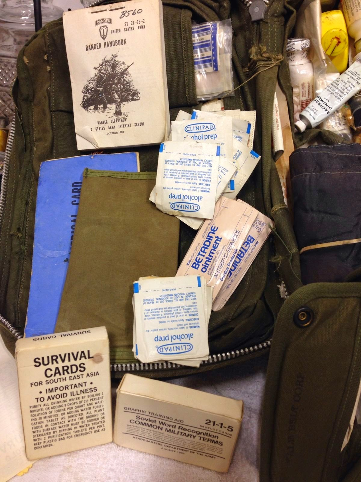 webbingbabel  us army m5 medical platoon bag contents late