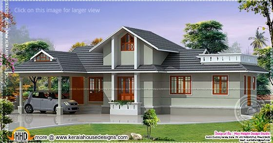 2172 kerala house with 3d view and plan - House Made Of Laterite Stone Keralahousedesigns