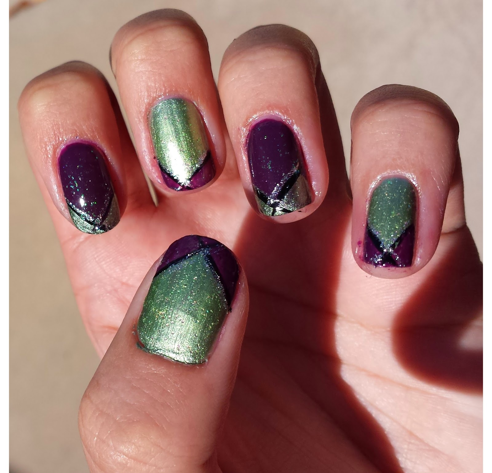 Nifty Nails: Maleficent Inspired Nails