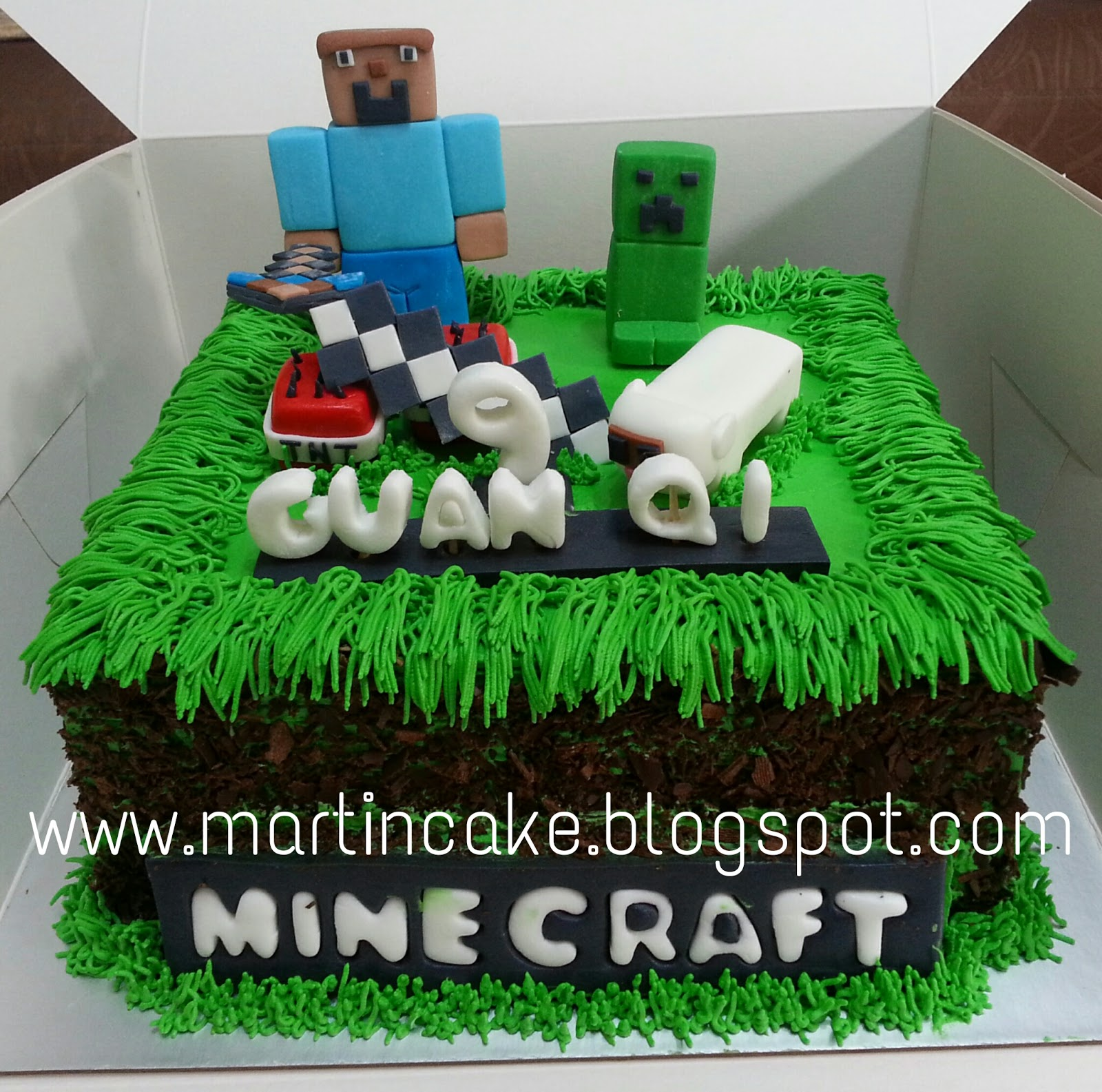 Martins Cake Minecraft Cake Singapore