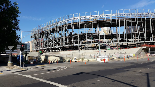 Arena Update: Steel nearly done, roof is next
