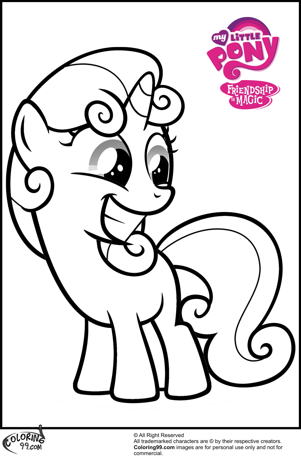 My Little Pony Coloring Pages Cutie Mark : Free coloring pages of mlp cutie mark