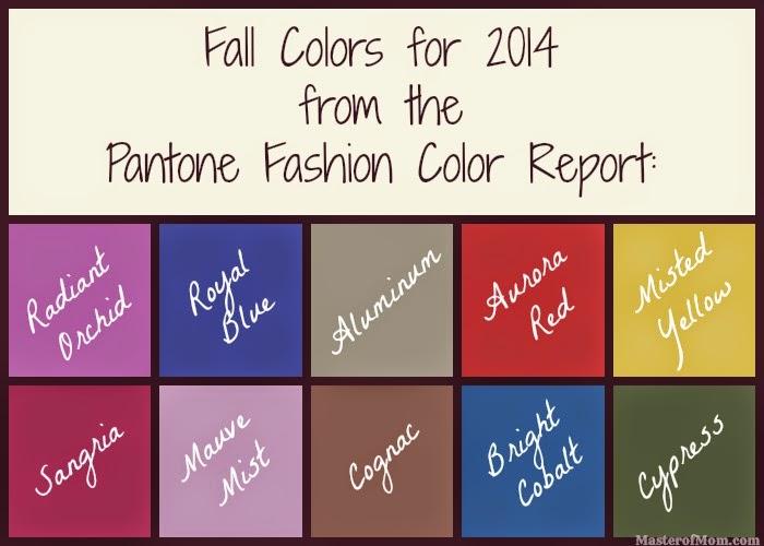2014 Fall Fashion Colors